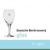 Gooische bierbrouwerij glazen set 6stk
